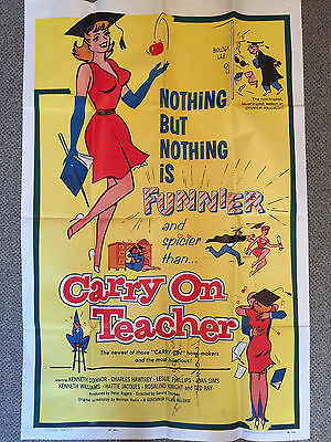 CARRY ON TEACHER (1959) - Original Vintage Film Poster - US One Sheet