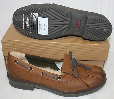 UGG Women's Haylie chestnut leather waterproof duck shoes New With Box!