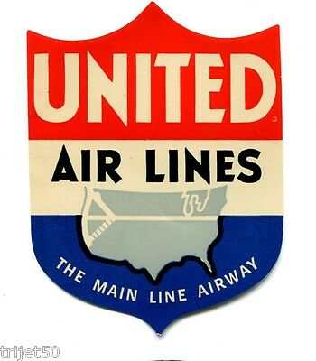 United Airlines The Main Line Airway Luggage Label