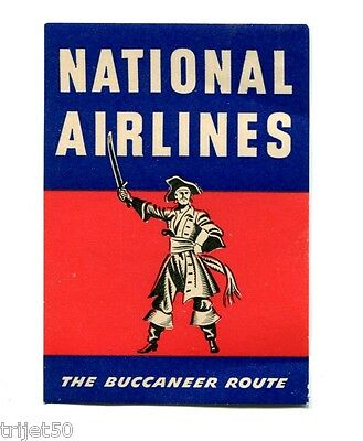 National Airlines The Buccaneer Route Air Luggage Label