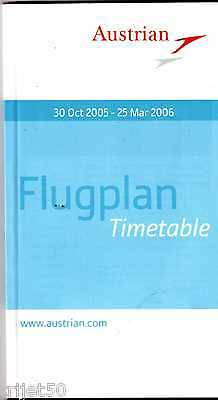 Airline Timetable Austrian Airlines 2005 Winter