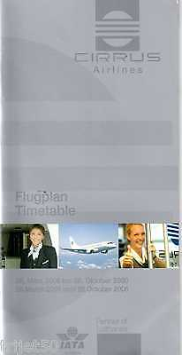 Airline Timetable Cirrus Airlines 2006 Summer