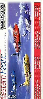 Airline Timetable Western Pacific Airlines 1996 June-Sep