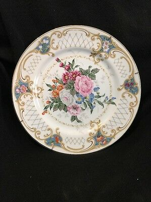 """Andrea By Sadek 'Amore' Floral 10-5/8"""" DISPLAY PLATE W/ HANGER ~ SHABBY CHIC!!!"""