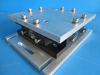 Newport 401 Two-Axis Linear Stage w/ 2 SM-13 Micrometers Baseplate & Platform