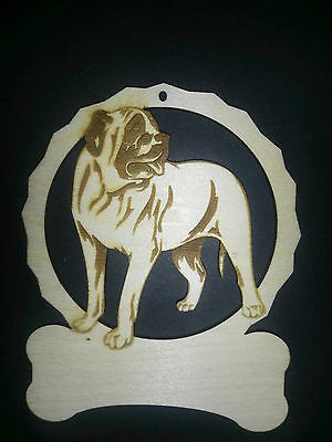 Personalized Mastiff dog ornament