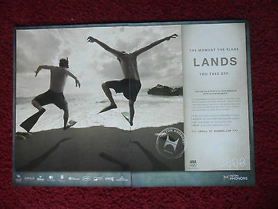 2012 Print Ad Hilton HHonors Paradise Points ~ Jumping Into Ocean