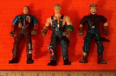 """Set of 4"""" GI Joe Type Workers Action Figures 4"""" Action Toys New"""