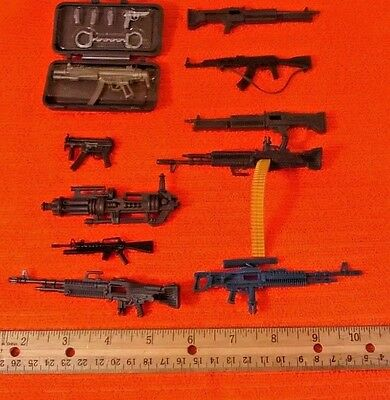 "Lot of Soldier Weapons Guns for 4"" Soldiers GI Joes for Action Figures Toys New"