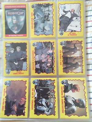 Robocop 2 TOPPS 1990 trading cards complete base set
