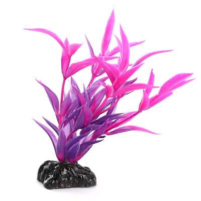 Ornement Aquarium Decoration Plante Artificielle Plastique Rhodo