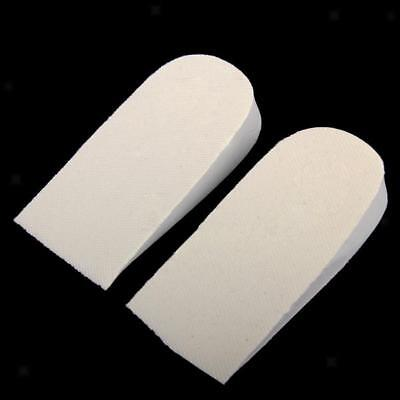 1Pair Light Grey Invisible 2cm Height Increase Lift Insole Shoe Cushion Half Pad