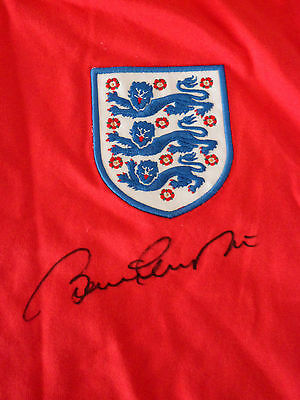 1966 World Cup England Signed Bobby Charlton Football Shirt- Superb! *look*