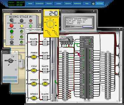 Programming Logic Controllers PLC Training Simulation Software v3.4 + Books