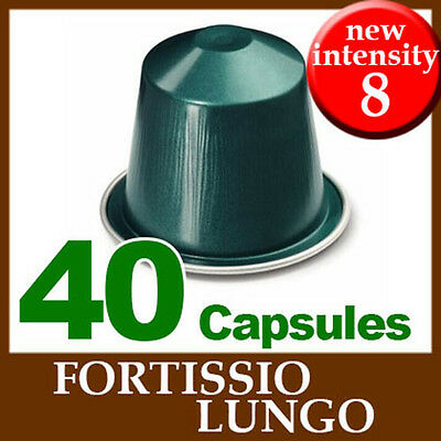 4x10 FORTISSIO LUNGO Capsules Nespresso Coffee *BRAND NEW ~ CHRISTMAS*