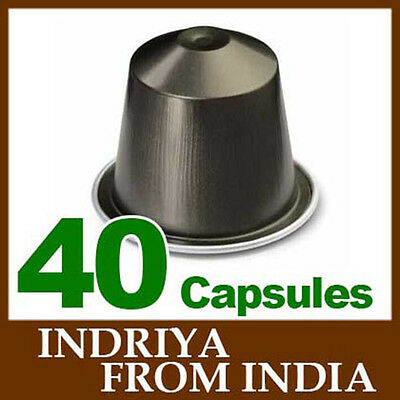 4x10 INDRIYA FROM INDIA Capsules Nespresso Coffee *BRAND NEW ~ CHRISTMAS*