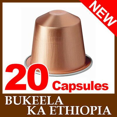 2x10 BUKEELA KA ETHIOPIA nespresso coffee capsules *NEW* JUST RELEASED !!!