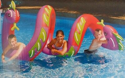 Swimline Large Inflatable Two Headed Curly Serpent 9087