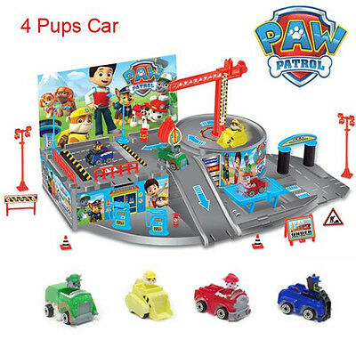 Paw Patrol Car Park Rocky Marshall Chase Dog Figures Pups Baby Kid Toy Xmas Gift