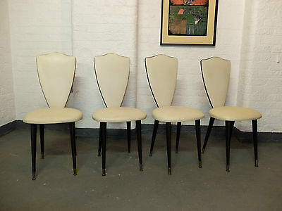 Set of 4 Midcentury Italian Dining Chairs by Umberto Mascagni (20C710)