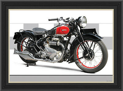 Ariel Square Four 1938 Motorcycle Print / Classic Motorcycle Poster