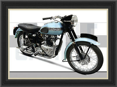 Triumph Tiger T110 Motorcycle Print /  Motorcycle Poster