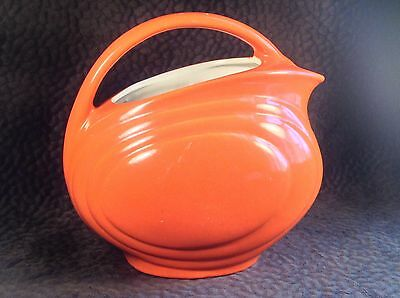 Red Wing Pottery Orange Pitcher Streamlined Gypsy Trail Hostess Water Jug 64 oz