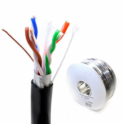100m External SHIELDED CAT6 Outdoor Use COPPER Ethernet Cable FTP [008545]