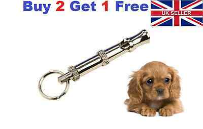 Adjustable Sound High frequency Pet  Dog Whistle Key Chain Puppy Training Collie
