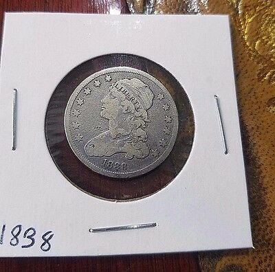 1838 Capped Bust Quarter Free Shipping!