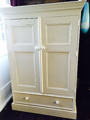 Belle Maison Childrens White Childrens French  style solid wooden wardrobe