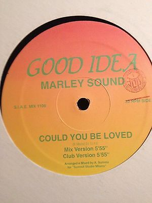 "Could you be loved 12"" vinyl record Bob Marley 4 mixes Free Postage Dance Reggae"
