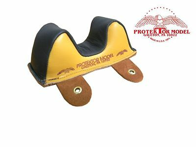 Protektor Model - New #1 B.b. Leather Front Owl Bag Shooting Rest Made In U.s.a.