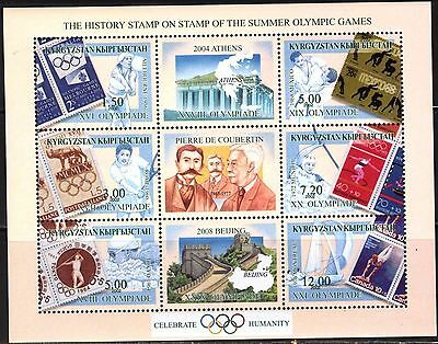 Kyrgyzstan 2002 History of Olympics Games ( 3 ) Stamp on Stamp MNH**