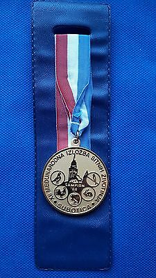 1st PLACE MEDAL PIGEON POULTRY BIRDS 12th INTERNATIONAL EXHIBITION SUBOTICA 84