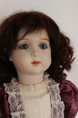 """Fine  Antique Repro Artist Designed Large 24"""" French Bru Doll in Costume"""