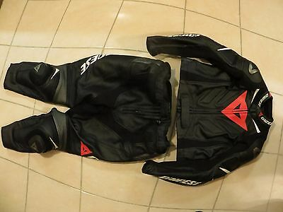Dainese 2 piece leather Laguna Seca Evo motocycle suit