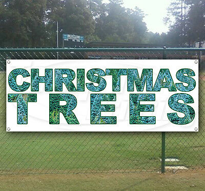 USA CHRISTMAS TREES Advertising Vinyl Banner Flag Sign Many Sizes Available