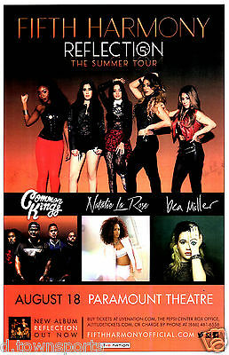FIFTH HARMONY Reflection Tour 2015 - Paramount  - Denver 11x17 Show Flyer Poster