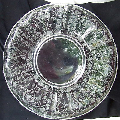 "Diane Large 14"" Torte Plate w/ Rolled Edge, Cambridge G-259"