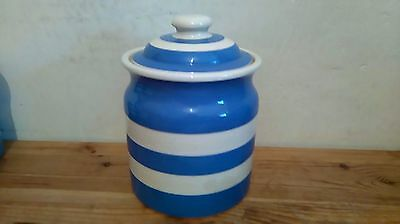 T G Green Cornishware Large Storage Jar - 8""