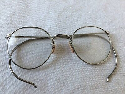 ANTIQUE SILVER Tone WHITE METAL FUL-VUE Eyeglasses Spectacles Oval shape 11003