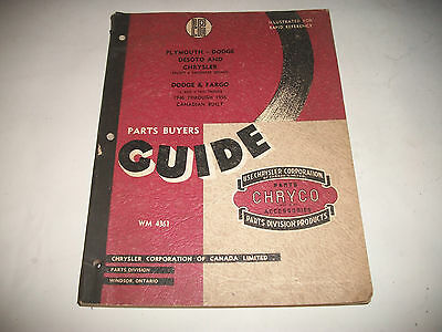 1946-56 Chrysler  Parts Buyers Guide Parts Catalog Dodge Plymouth Trucks Fargo