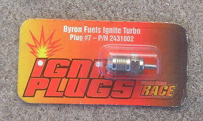 Byron Turbo Glow Plug Platinum #7 P/N 2431002 OS RB Nitro RC Spark Plugs Cold