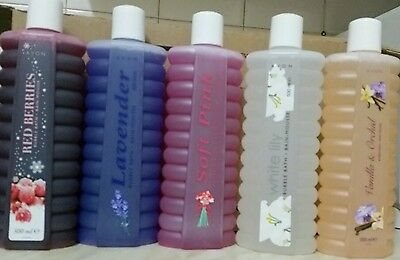 Avon~BUBBLE BATH 500ml  5 VARIOUS BUBBLE BATH SCENTS