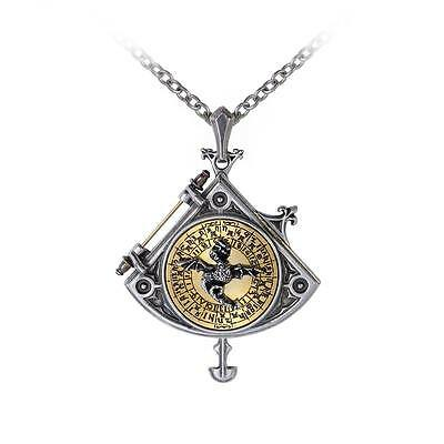 Alchemy Gothic Empire Astral Dragon Quadrant Locket Steampunk Necklace Pewter