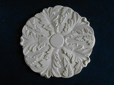 Acanthus Leaf White Plaster Ceiling Rose 505 Diameter - Handcrafted