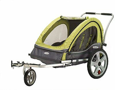 New Instep Sierra Double Bike Bicycle Trailer Stroller Coupler Baby Child
