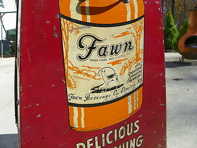 Fawn Beverage Soda Bottle Display Rack Rare Elmira New York