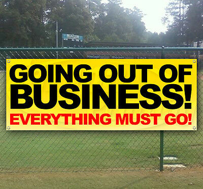 GOING OUT OF BUSINESS Advertising Vinyl Banner Flag Sign Many Sizes Available